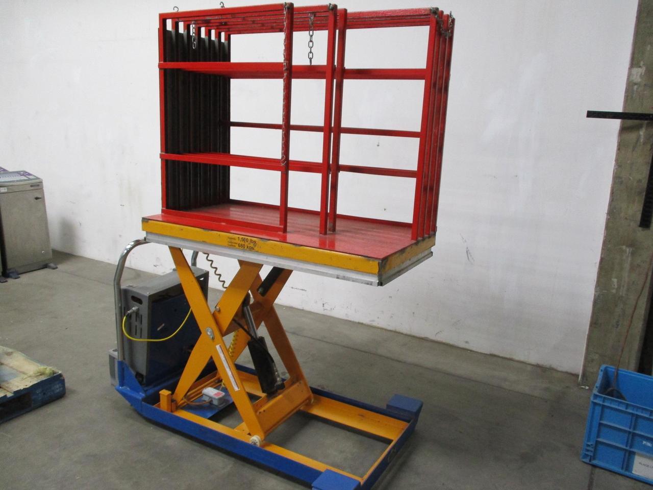 Vestil CART-24-15-DC Battery Powered Mobile Scissor Lift Table 1500 Cap