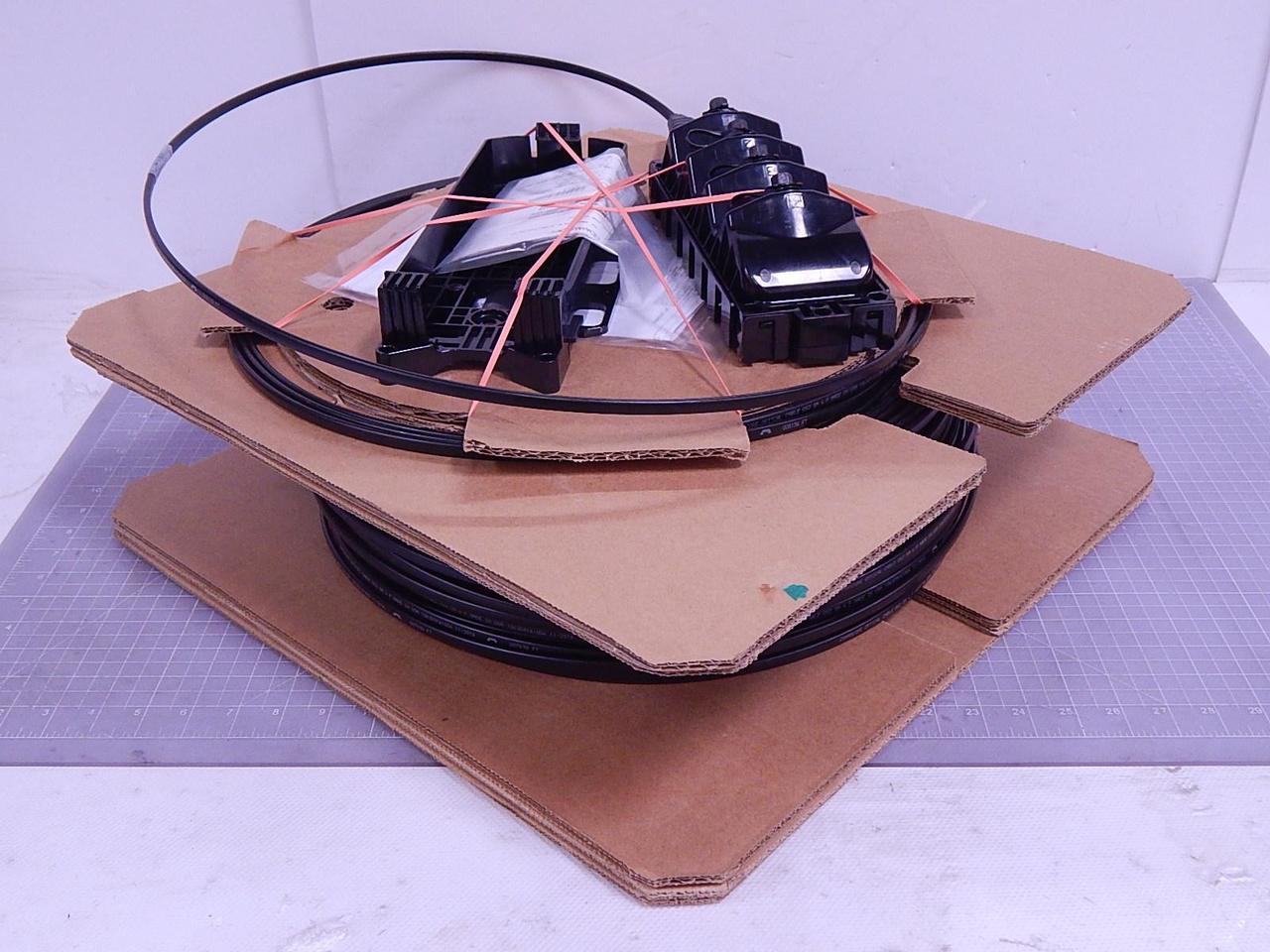 Commscope MST-04XX00-A0500U Mini-MST Fiber Optic Multiport Service Terminal  4-port Fiber Optic Cable Roll OS2 Single Mode 500 FT T116736