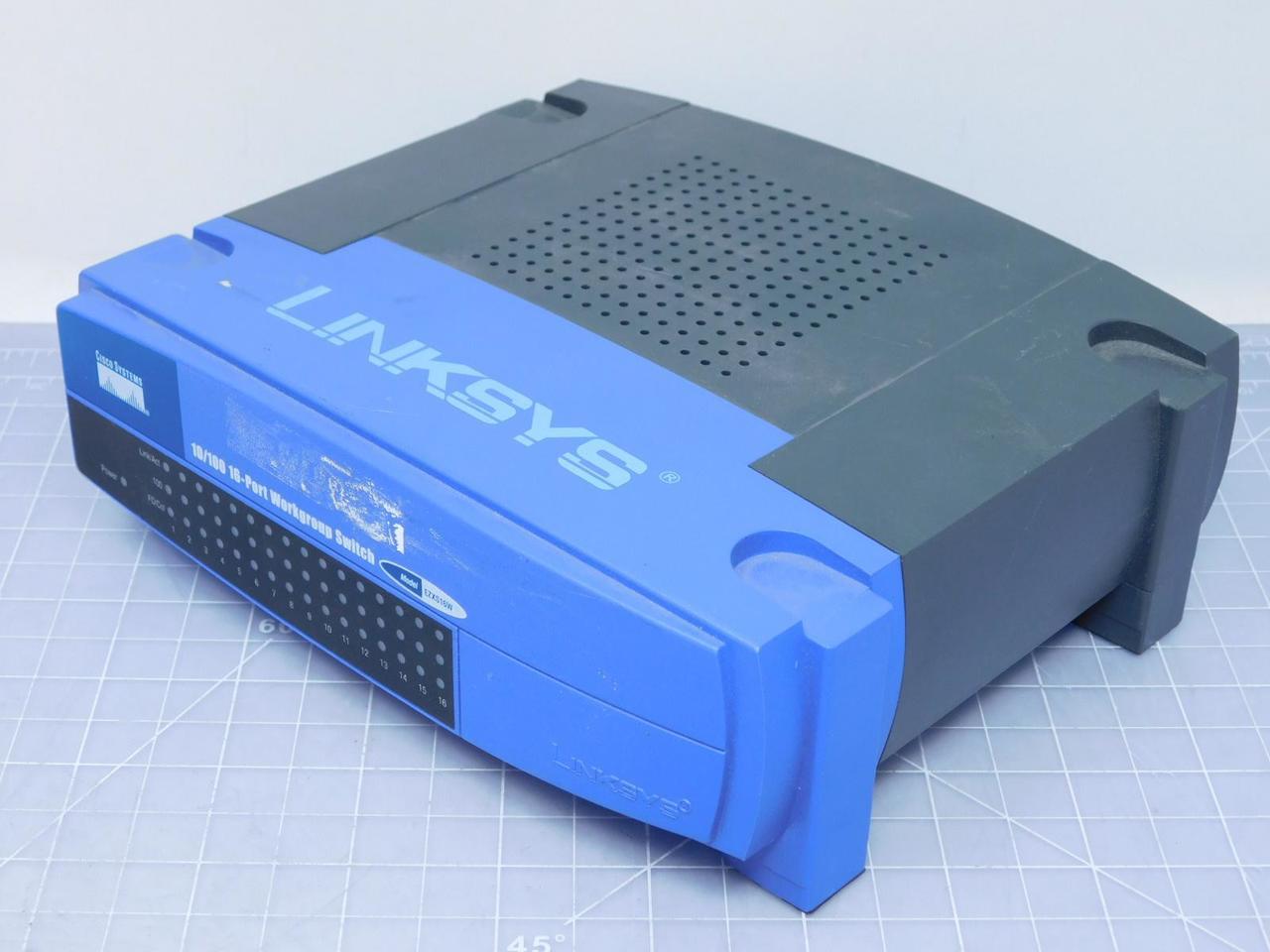 Linksys EZXS16W 16-Port 10/100 Workgroup Switch T119635