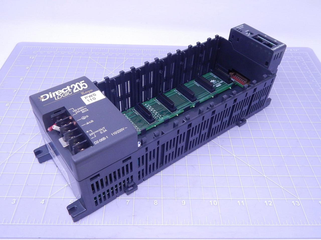 Automation Direct D2-06B-1 Facts Direct Logic 205 Koyo PLC Control Station  6 Slot Rack T122975