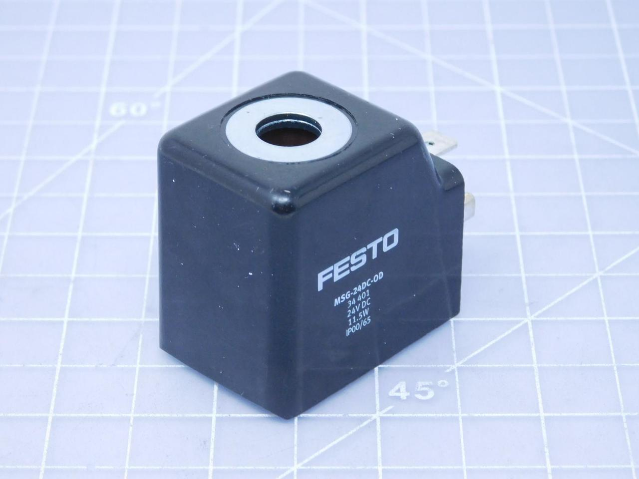 Festo MSG-24DC-0D Solenoid coil 24 VDC 11 5 W T132838