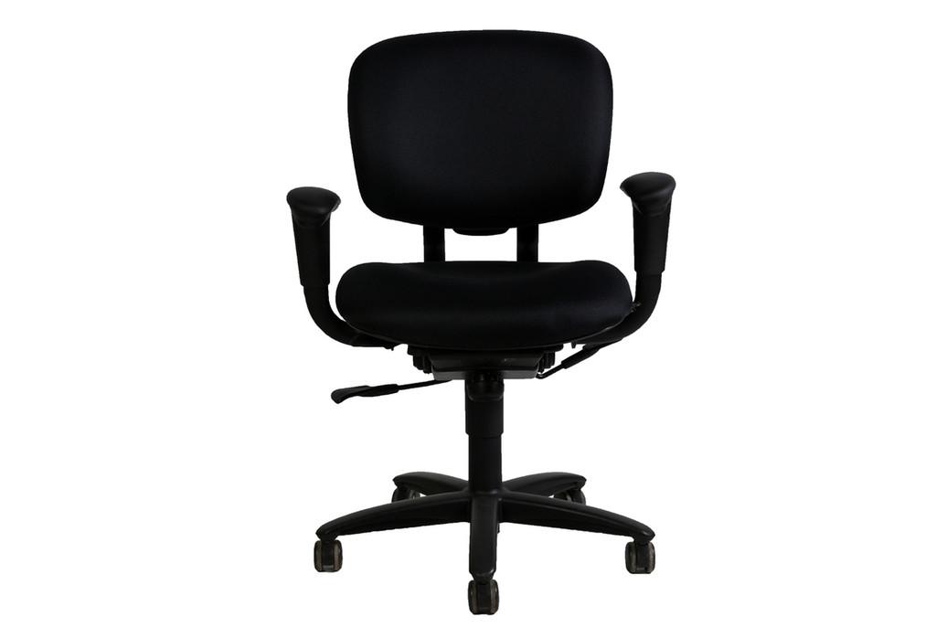 Haworth Improv Task Chair (Black)  - Reupholstered