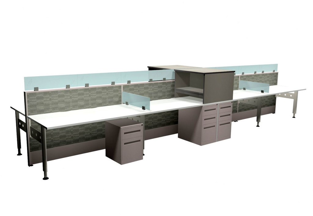 Teknion Boulevard Benching Workstations - New