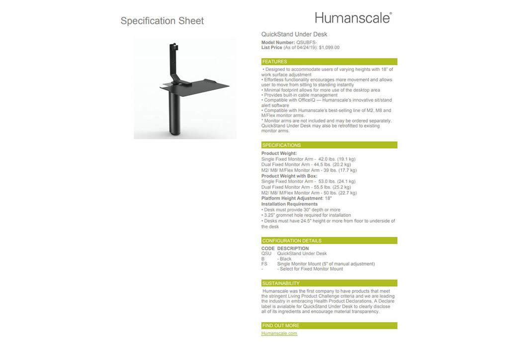 Humanscale Under Desk