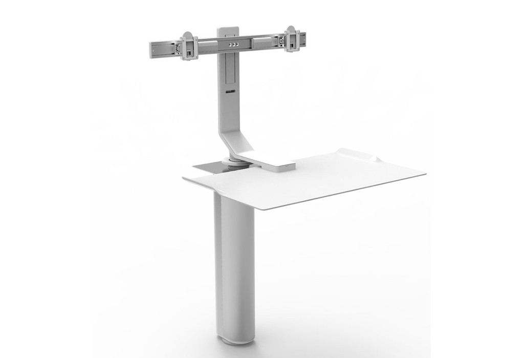 Humanscale Quickstand Underdesk - Dual Monitor Mount - New