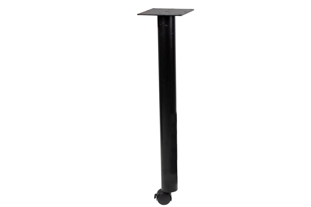 Black Post Leg w/ Locking Caster- Used