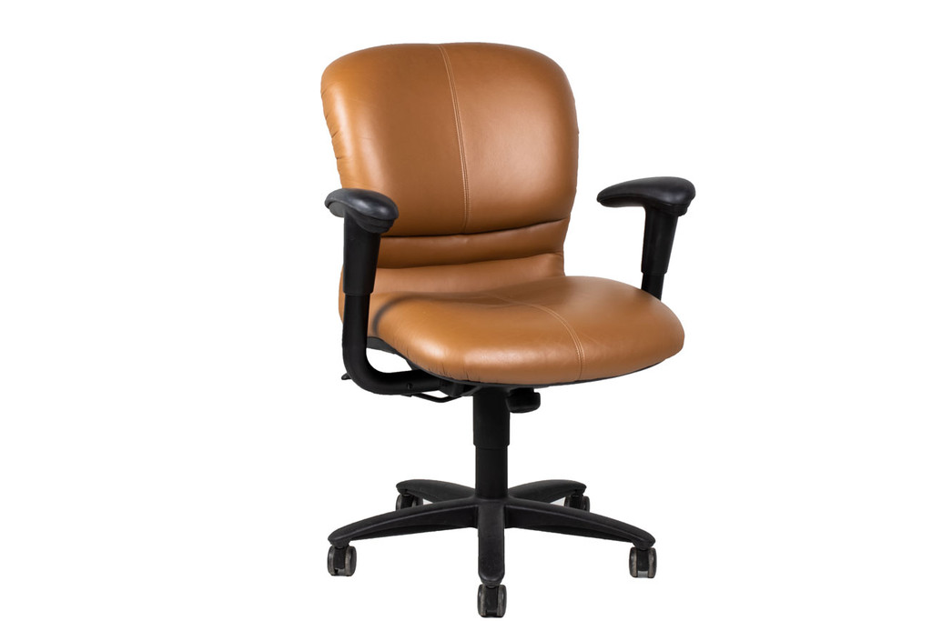Haworth Leather Conference Chair - Preowned
