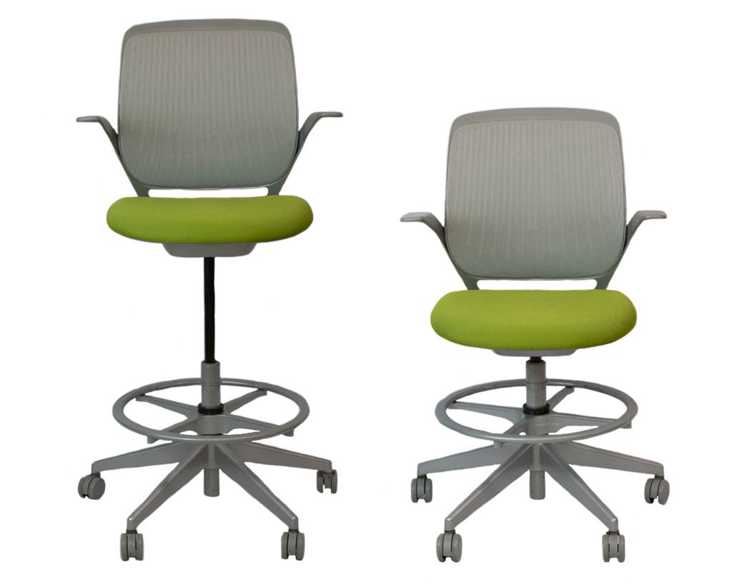 Steelcase Cobi Stool - Green - Preowned