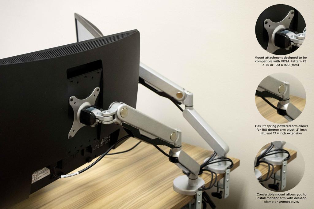 Enwork Single Monitor Desk Mount - New