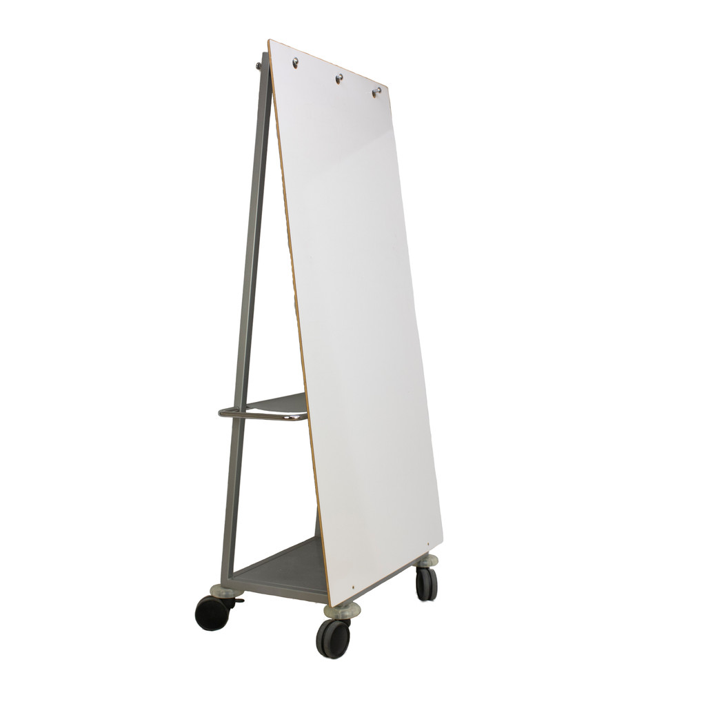"""Mobile """"A"""" Frame Whiteboard 38""""W x 79""""H - Preowned"""