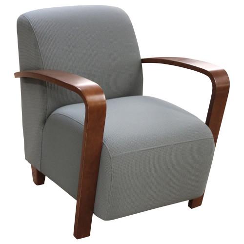 Jenny Club Blue Lounge Chair - Refurbished