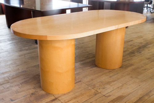 Boat Shape Conference Table - Used - CLEARANCE