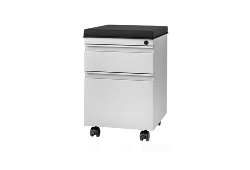 Metal Arc Box/File Pedestal w/ Cushion - Used