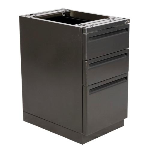 """24"""" D Top Supporting Haworth Box/Box/File 950 Series Radius Case - Repainted"""