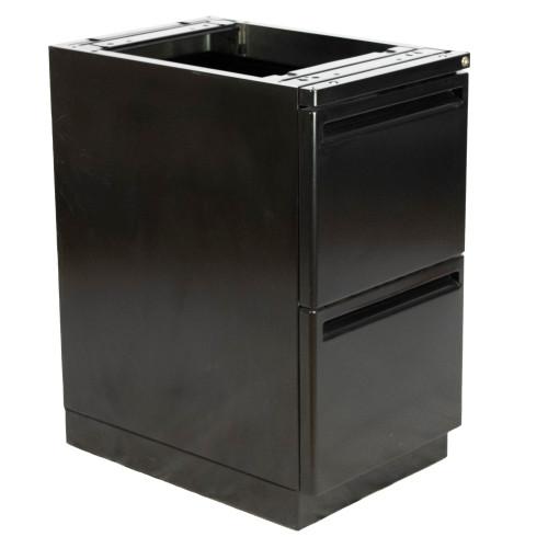 """24""""D Top Supporting Haworth File/File Radius Case Pedestal - Repainted"""