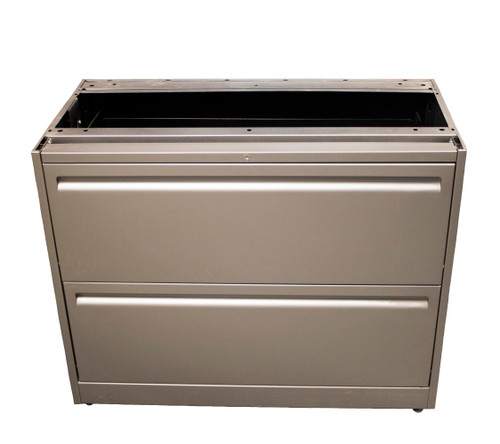"""Haworth 950 Series 2 Drawer Top Supporting 30"""" Radius Case Lateral File - Repainted"""