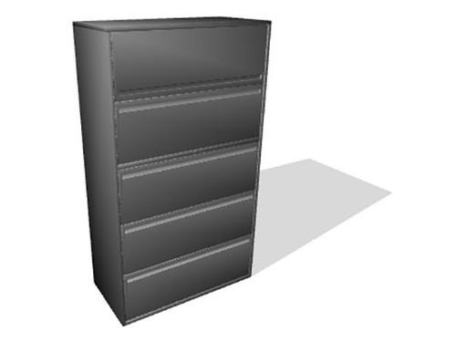 "Haworth 950 Series 5 Drawer 30"" Radius Case Lateral File - Refurbished"