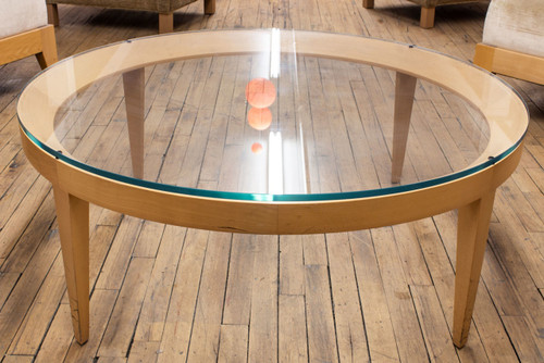 "42"" Round Glass Occasional Table - Used"