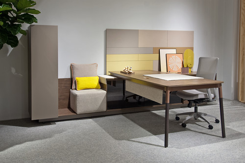 Three H Private Office Desk - Used
