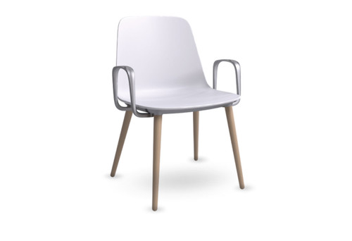 Sofie Multi Purpose Side Chair w/ Wooden legs - New