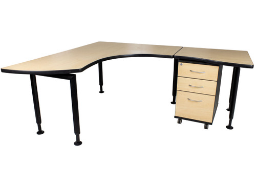 "Watson Fusion L Shape Office Desk - Right Side - 78"" x 66"" - Preowned"