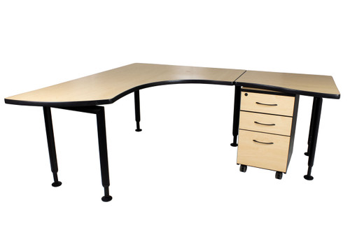 "Watson Fusion L Shape Office Desk - Right Side - 72"" x 66"" - Preowned"