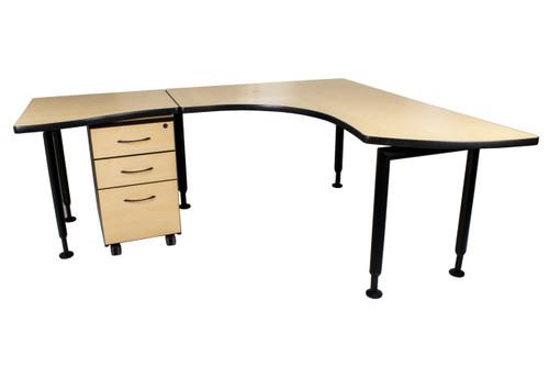 """Watson Fusion L Shape Office Desk - Left Side - 72"""" x 66"""" -Used"""