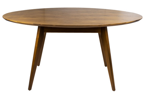 Wood Veneer Oval Table - Preowned