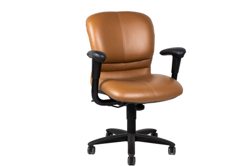 Haworth Leather Conference Chair - Used