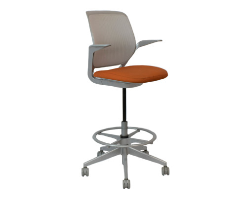 Steelcase Cobi Stool - Orange - Preowned