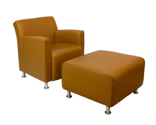 Turnstone Leather Lounge w/ Ottoman - Used