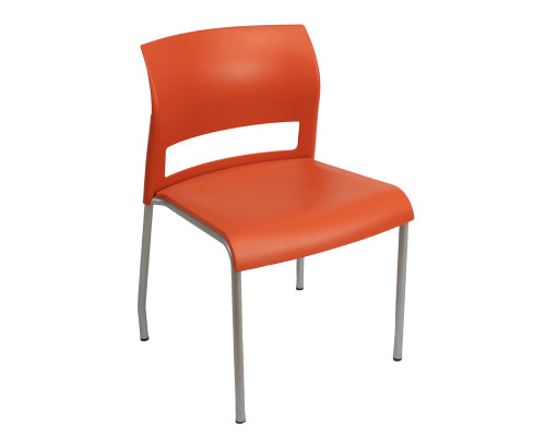 Steelcase Armless Move Chair - Chili Red - Preowned
