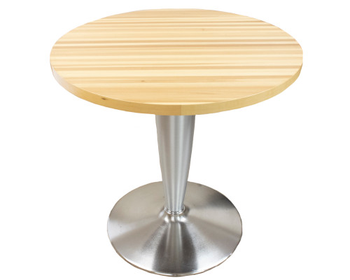 Small Round Table - Chrome Base -Preowned