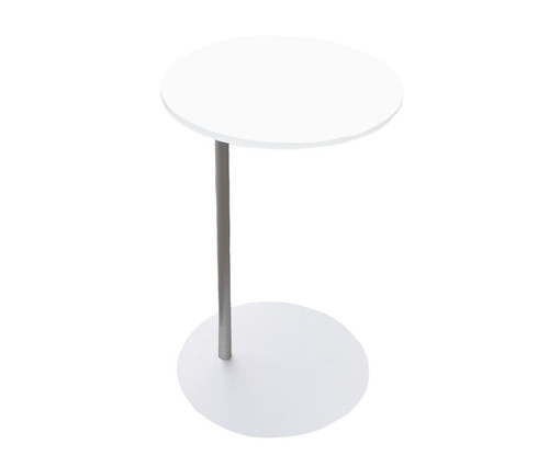 "16"" White Side Table"