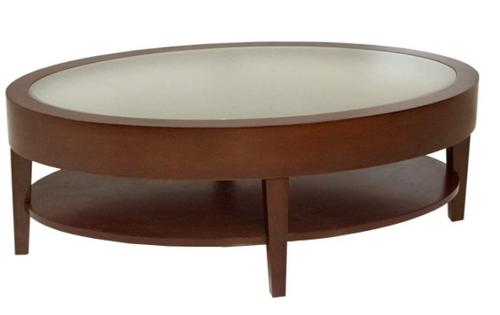 Empire Oval Coffee Table - Luna Cherry - New