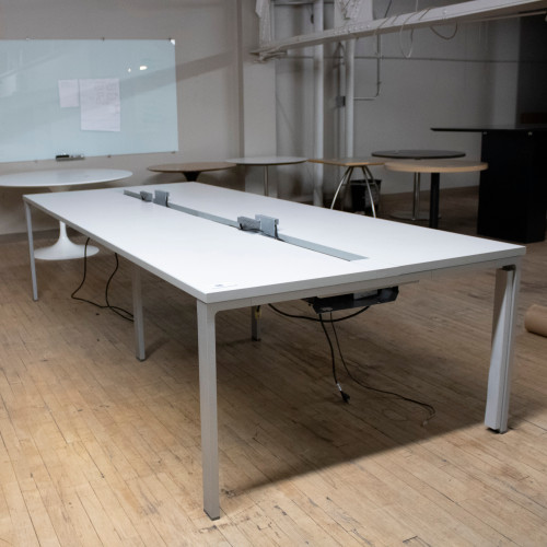 8' Conference Table w Power - Preowned