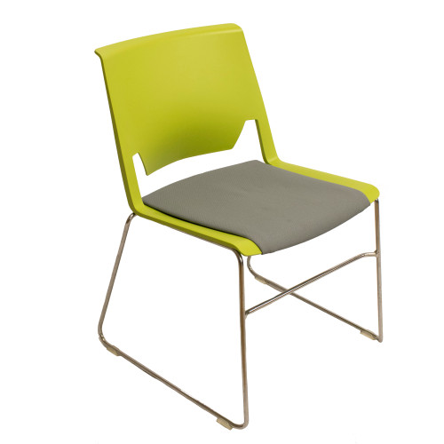 Haworth Very Armless Side Chair - Sled Base - Preowned