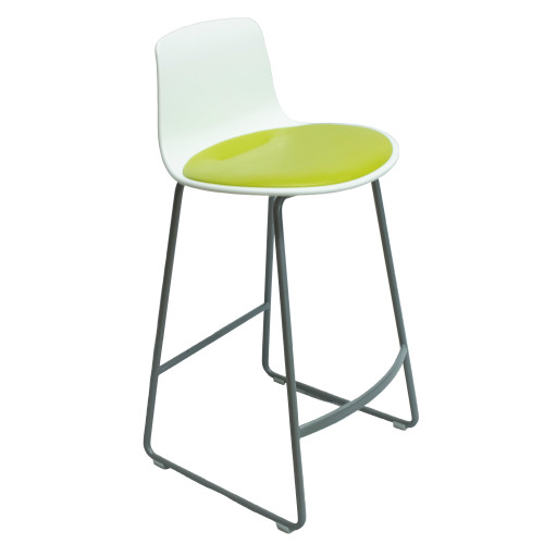 Coalesse Enea Lottus Counter Height Stool - Green - Preowned