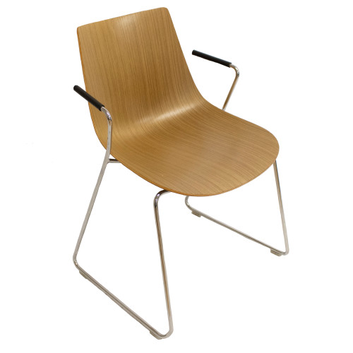 Allermuir Curve Stack Chair w/ Arms - Preowned
