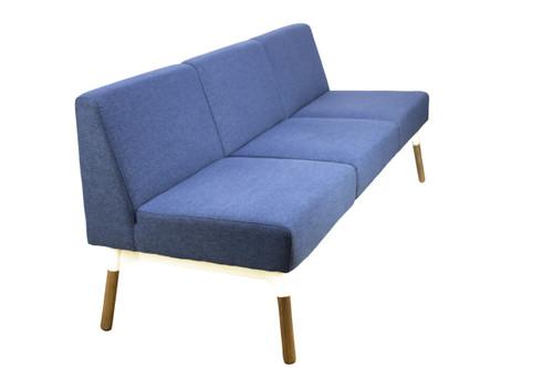 Blue Reception 3 Seat Sofa-Preowned