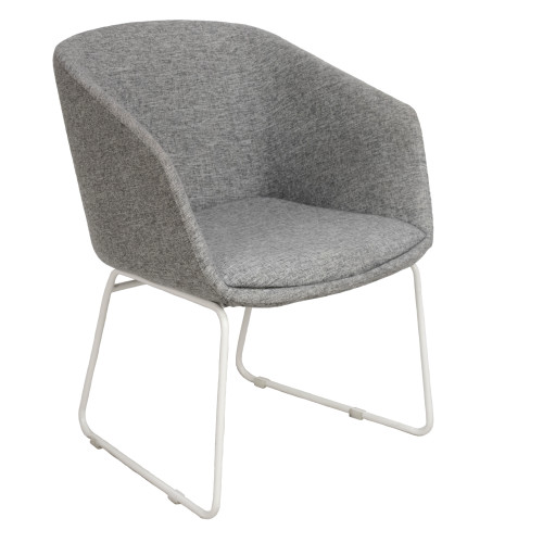 Grey Sled Base Bucket Side Chair - Preowned