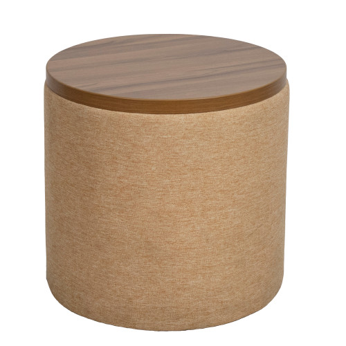 """Upholstered Round Side Table 18"""" - Preowned"""