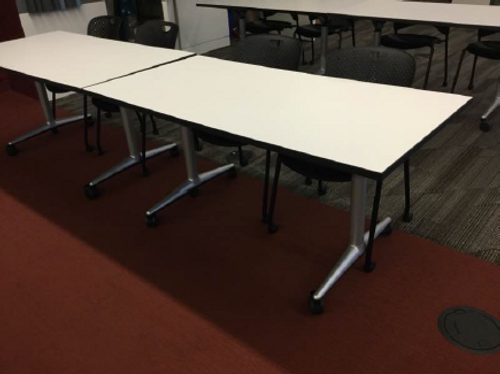 "30"" x 60"" Nesting Mobile Training Table - FOB Chicago, IL - Preowned (Minimum Order 10)"