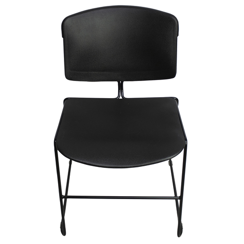 Steelcase Max III Stackable Chair - Black - Preowned