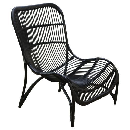 Black Wicker Chair - Preowned