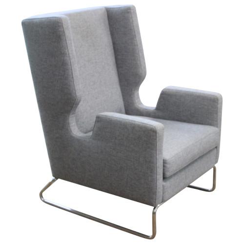Gus Modern Danforth Chair - Light Grey - Preowned