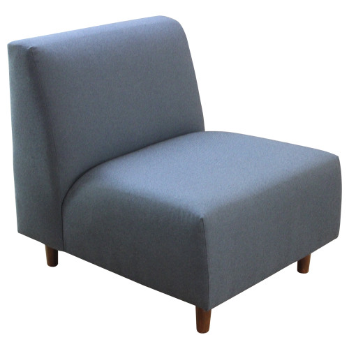 Armless Blue Lounge Chair - Preowned