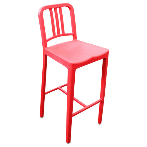 Emeco 111 Navy Barstool - Red - Preowned