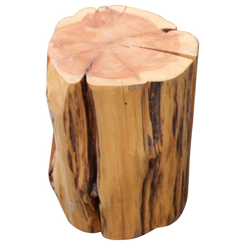West Elm Natural Tree Stump Side Table - Preowned