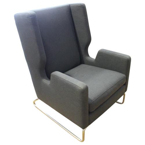 Gus Modern Danforth Chair - Dark Grey - Preowned